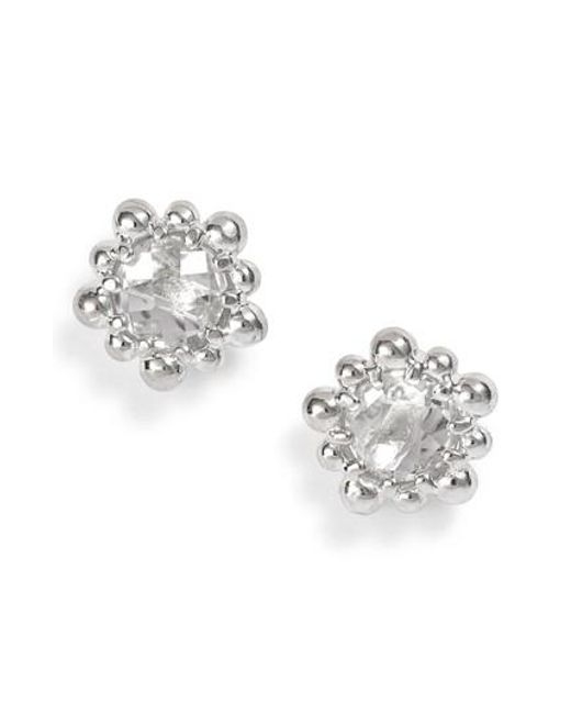 Anzie - Metallic Micro Dew Drop Topaz Earrings - Lyst