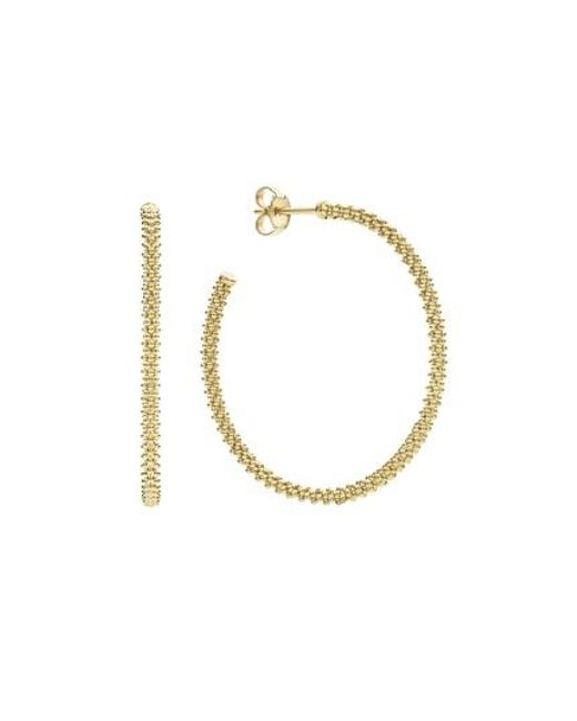 Lagos - Metallic Caviar Hoop Earrings - Lyst