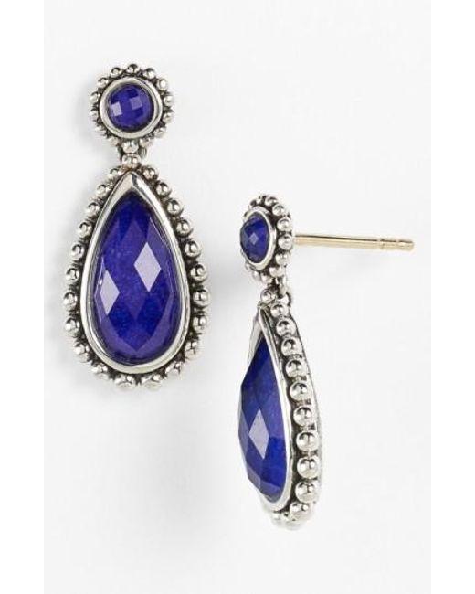 Lagos | Blue 'maya' Teardrop Earrings | Lyst