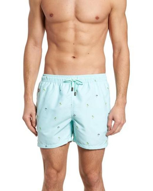 Nikben - Blue Equator Drawstring Waist Boardshorts for Men - Lyst