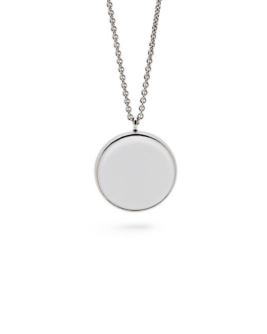 Tom Wood - White Agate Medallion Necklace - Lyst