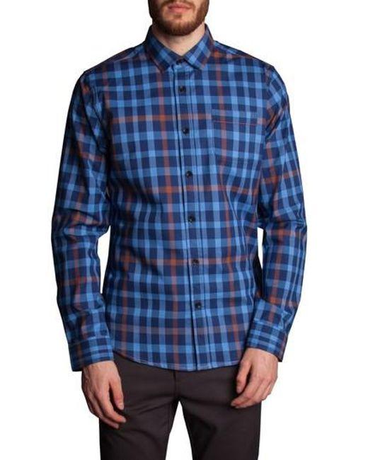 Descendant Of Thieves   Blue Plaid Sport Shirt for Men   Lyst