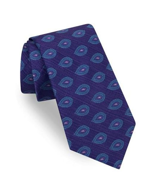 Ted Baker | Purple Superb Paisley Silk Tie for Men | Lyst