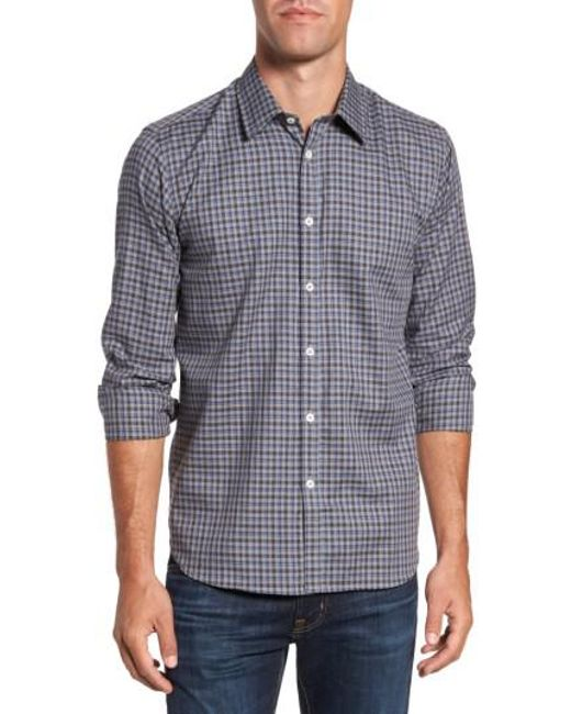 Jeremy Argyle Nyc | Gray Comfort Fit Plaid Sport Shirt for Men | Lyst