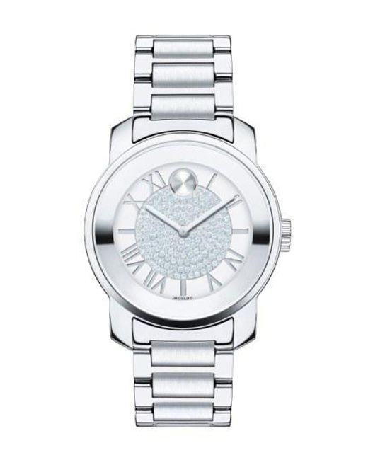 Movado - Metallic 'bold' Crystal Dial Bracelet Watch - Lyst