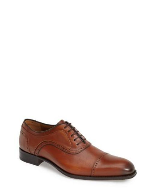 Mezlan - Brown 'march' Cap Toe Oxford for Men - Lyst