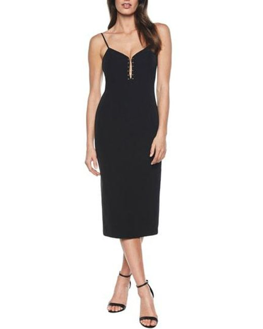 Bardot - Black Emilia Bar Midi Dress - Lyst