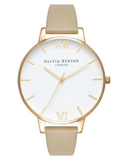 Olivia Burton - Metallic Leather Strap Watch - Lyst