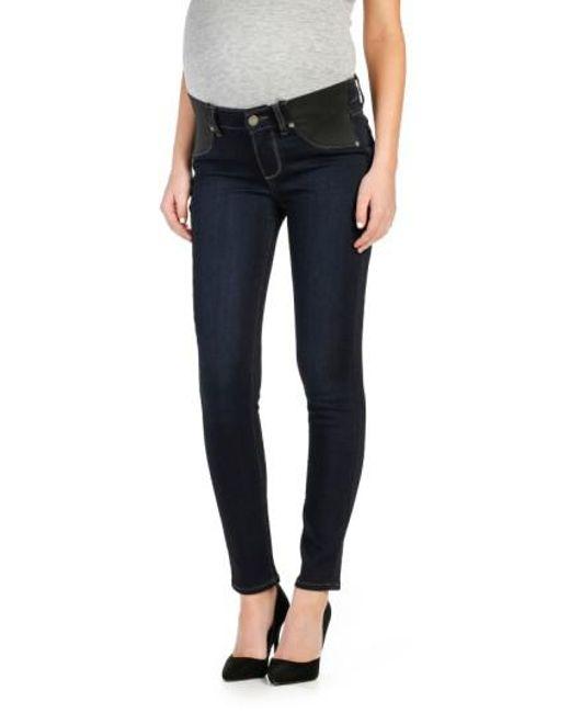 PAIGE - Blue 'transcend - Verdugo' Ankle Skinny Maternity Jeans - Lyst