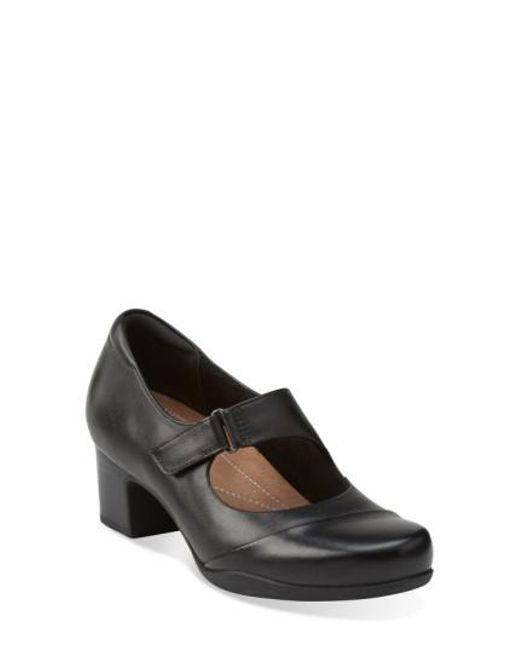 Clarks | Black 'Rosalyn Wren' Mary Jane Pump | Lyst