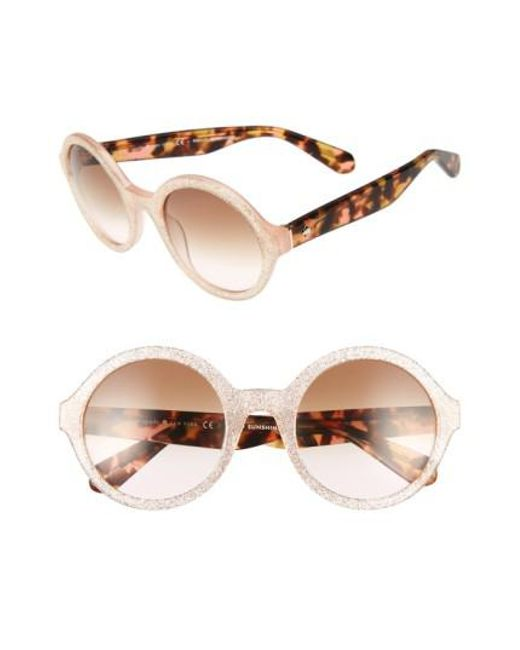 Kate Spade | Multicolor 'khriss' 52mm Round Sunglasses | Lyst