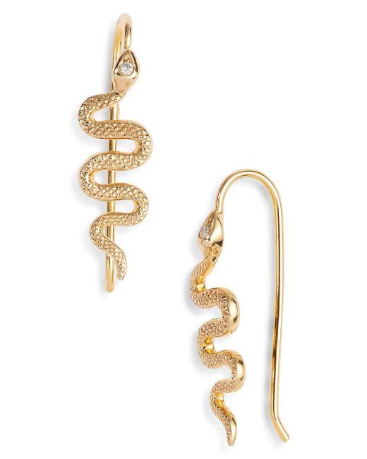 Nora Kogan - Metallic Xenia Diamond Snake Earrings - Lyst