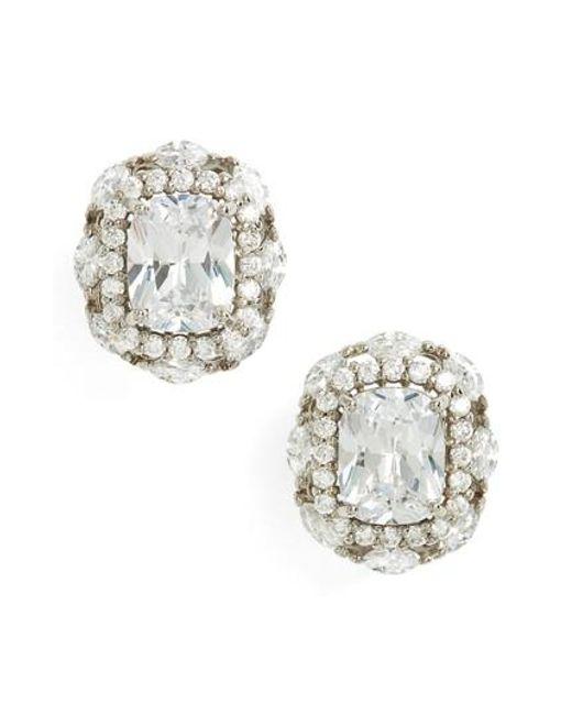 Nina Metallic Estate Jewelry Cubic Zirconia Stud Earrings Lyst