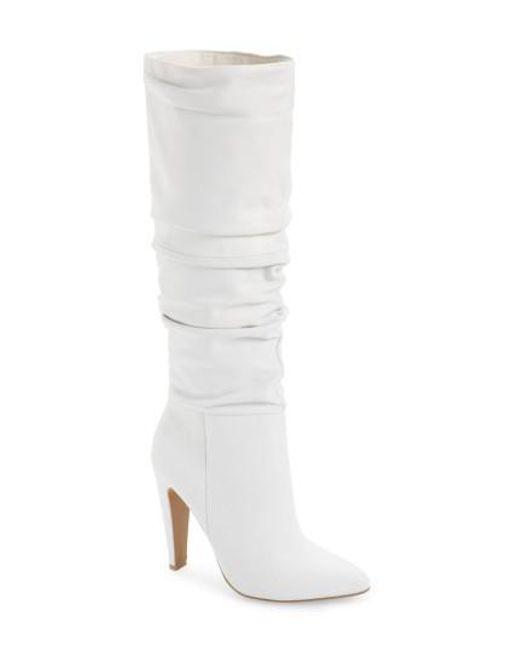 Steve Madden | White Carrie Slouchy Boot | Lyst