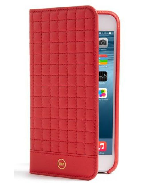 Sena | Red Iphone 7 Plus Quilted Wallet Case | Lyst