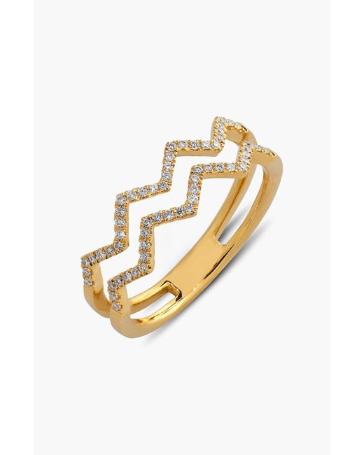 Bony Levy - Metallic 'prism' 2-row Diamond Ring (limited Edition) (nordstrom Exclusive) - Lyst