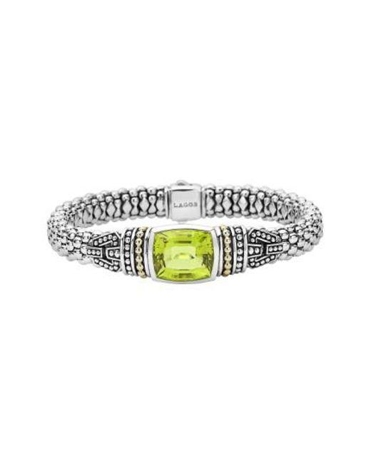 Lagos | Green 'caviar Color' Semiprecious Stone Bracelet | Lyst