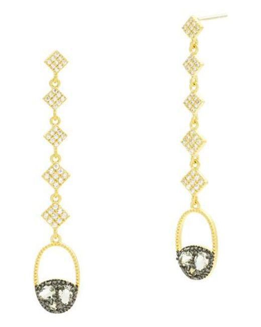 Freida Rothman - Metallic Rose Dor Drop Earrings - Lyst