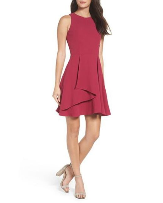 Adelyn Rae - Pink Athena Fit & Flare Dress - Lyst