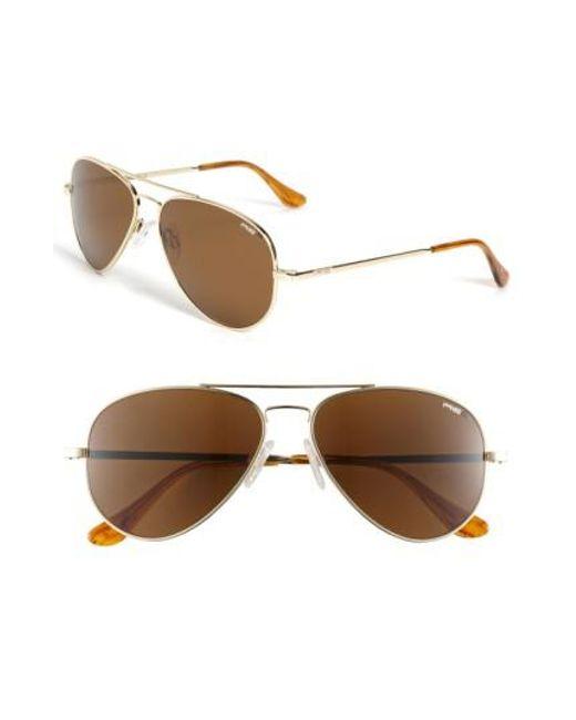 Randolph Engineering | Metallic 'concorde Classic' 57mm Polarized Sunglasses for Men | Lyst
