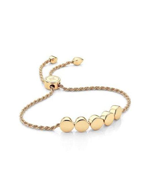 Monica Vinader - Metallic Engravable Linear Bead Friendship Bracelet - Lyst
