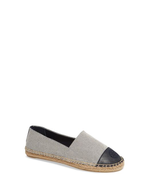 Tory Burch - Blue Leather-trimmed Espadrilles - Lyst