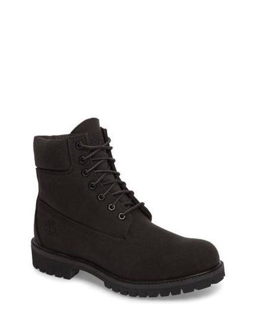 Timberland - Black Six Inch Premium Canvas Boot for Men - Lyst