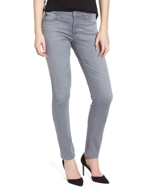 AG Jeans - Blue 'the Prima' Mid Rise Cigarette Skinny Jeans - Lyst