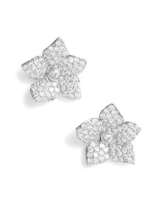 Kate Spade - Metallic Kate Spade Blooming Pave Stud Earrings - Lyst