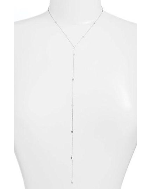 Argento Vivo - Metallic Mirror Station Lariat Necklace - Lyst