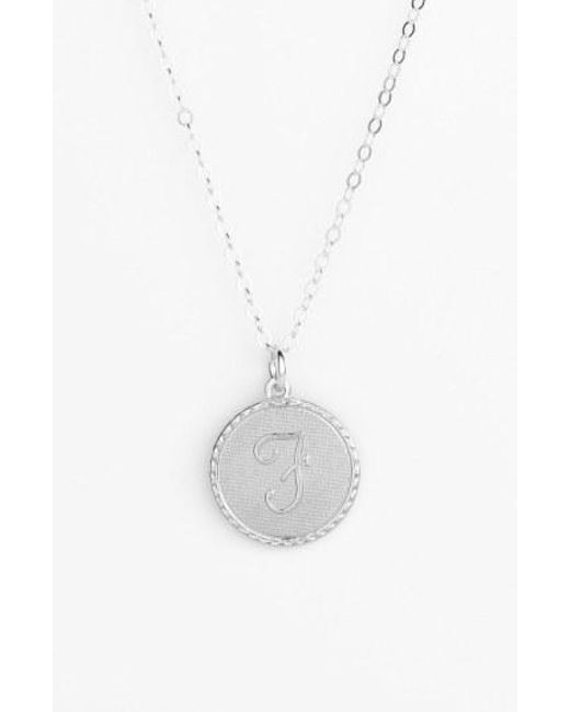 Moon & Lola - Metallic 'dalton' Initial Pendant Necklace - Lyst