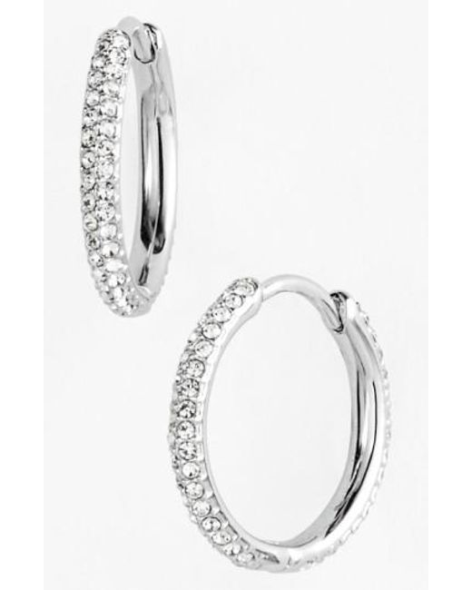 Nadri | Metallic Small Pave Hoop Earrings (nordstrom Exclusive) | Lyst