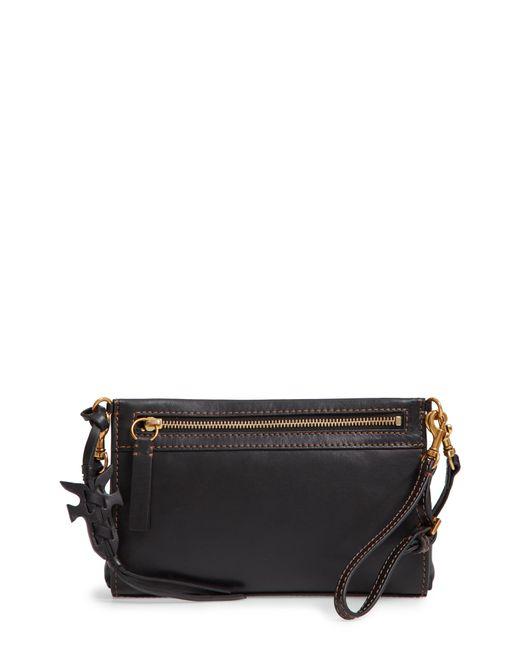 Frye - Black Carson Leather Wristlet/clutch - Lyst
