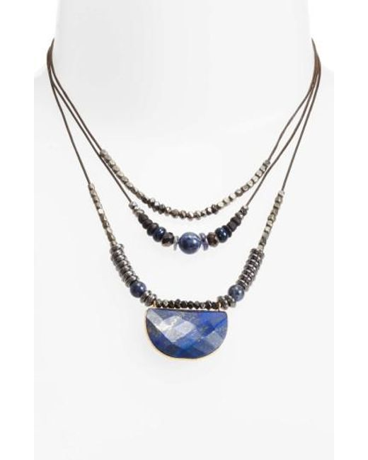 Nakamol | Gray Multilayered Necklace | Lyst