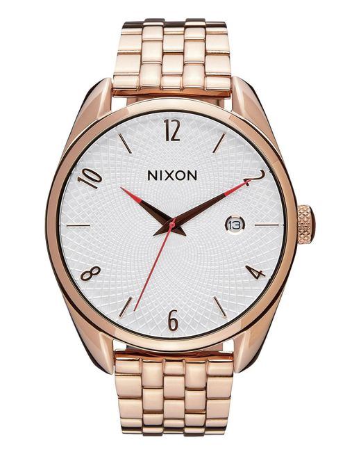 Nixon - Metallic 'the Bullet' Bracelet Watch - Lyst