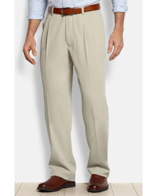 Tommy Bahama - Natural 'new St. Thomas' Flat Front Silk & Cotton Pants for Men - Lyst