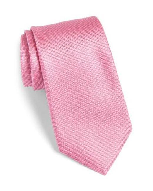Calibrate | Pink Rawson Solid Silk Tie for Men | Lyst