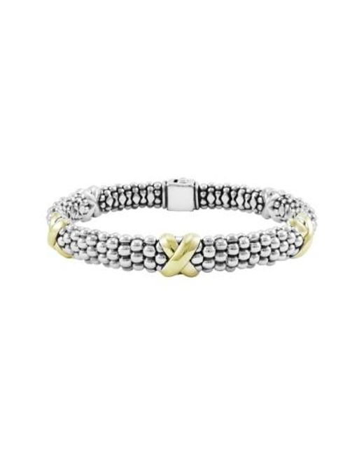 Lagos | Metallic 'x' Two-tone Rope Bracelet | Lyst