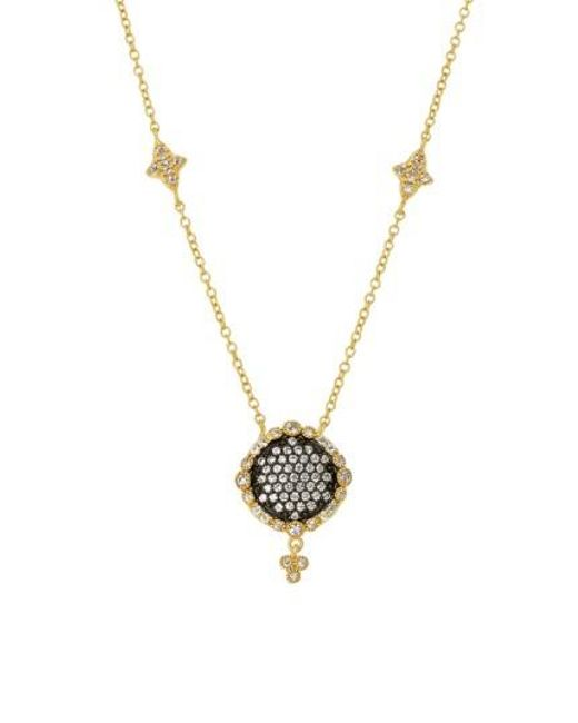 Freida Rothman | Metallic Disc Pendant Necklace | Lyst