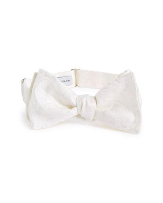 Robert Talbott | White Paisley Silk Bow Tie for Men | Lyst