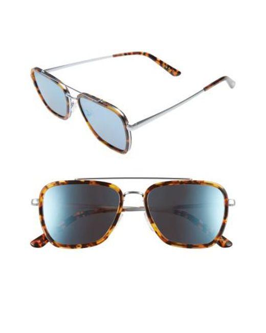 TOMS - Blue Irwin 55mm Sunglasses - Whiskey Tort for Men - Lyst