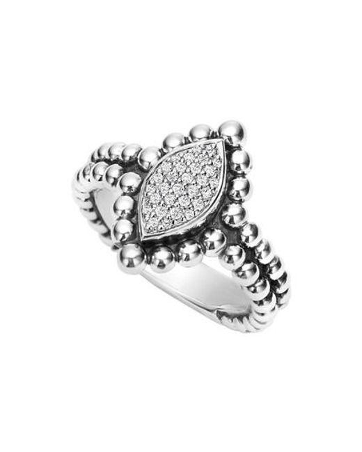 Lagos | Metallic Caviar Spark Diamond Marquise Ring | Lyst