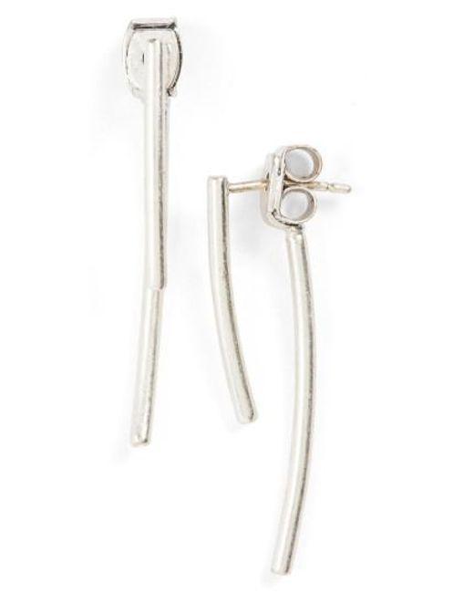 Madewell   Metallic 'stembend' Ear Jackets   Lyst