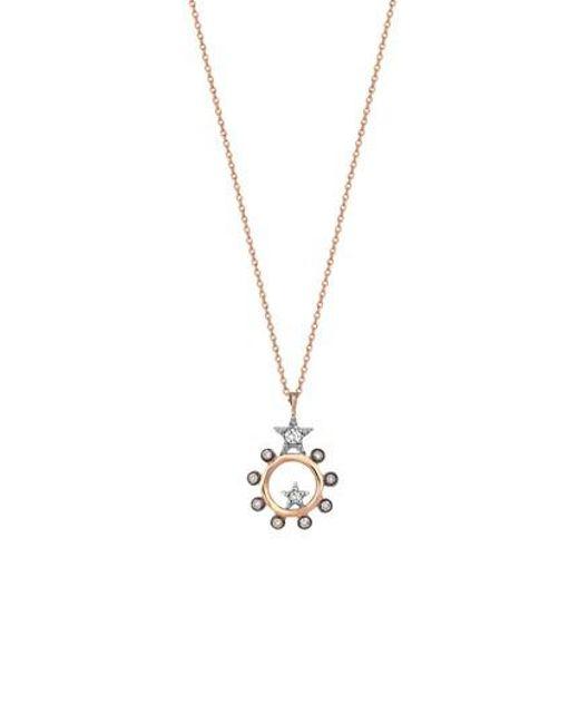 Kismet by Milka - Metallic Eclectic Diamond Star Pendant Necklace - Lyst