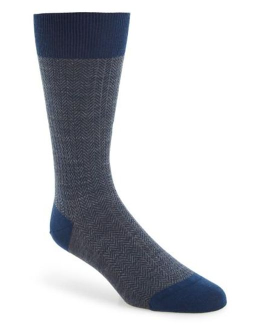 Pantherella | Blue '5911' Mid-calf Dress Socks for Men | Lyst