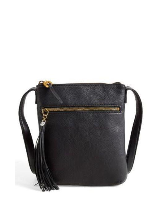 Hobo | Black 'sarah' Leather Crossbody Bag | Lyst