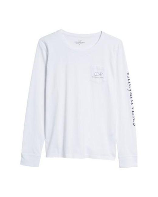 Vineyard Vines - White Whale Print Long Sleeve Tee - Lyst