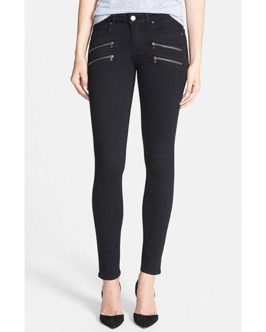 PAIGE - Black 'transcend - Edgemont' Ultra Skinny Jeans - Lyst