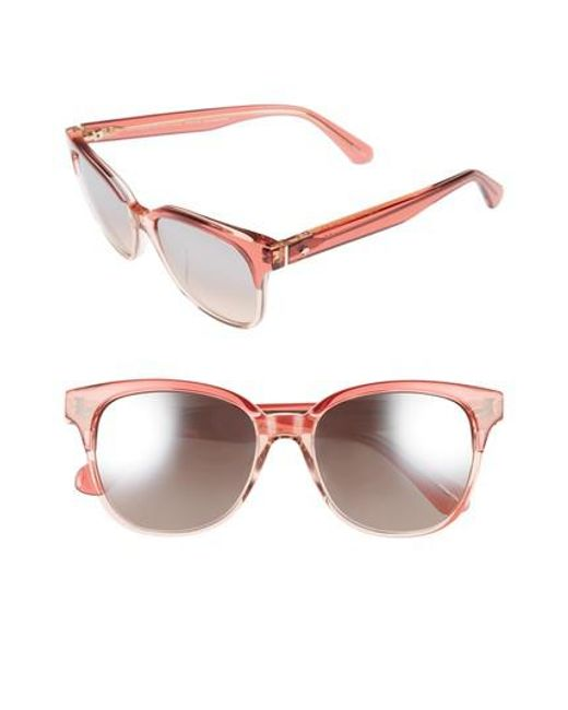 Kate Spade | Arlynn 52mm Sunglasses - Cherry Pink | Lyst