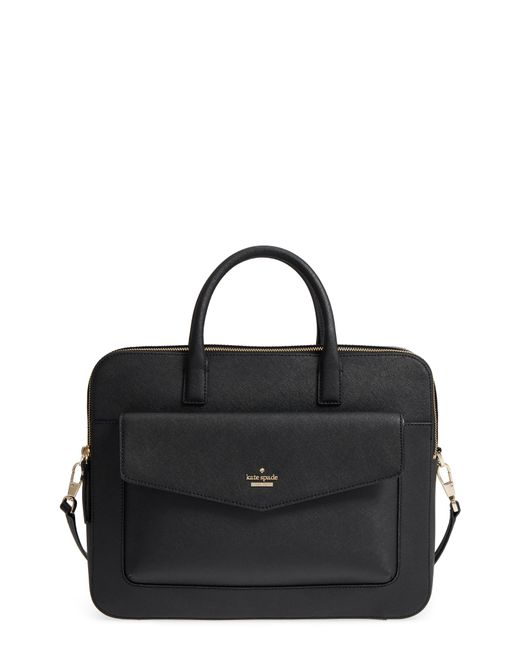 Kate Spade - Black 13-inch Leather Laptop Bag - - Lyst